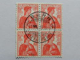 1909, 10c Rot Im Viererblock - Gebraucht