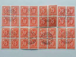 1938, Viererblockserie, Glattes Papier (8) - Portomarken