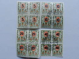 1937, Viererblockserie (4) - Portomarken