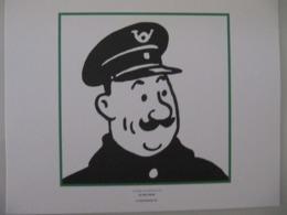 """Planche TINTIN """"Le Crabe Aux Pinces D'or"""" Le Facteur Ed Hergé-Moulinsart 2011 - Posters"""