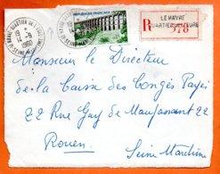 LE HAVRE QUARTIER DE L'EUROPE ( Pte Déchirure Haut )  1960 Recommandé Devant De Lettre N° MM 142 - 1961-....