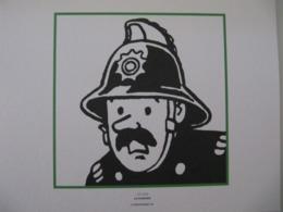 """Planche TINTIN """"L'Ile Noire"""" Le Pompier Ed Hergé-Moulinsart 2011 - Posters"""