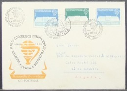 Portugal - Circulated FDC Cover To Angola 1958 Malaria Congress Paludism - 1910 - ... Repubblica