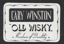 Etiquette De Wisky  -  Cary Winston - Whisky