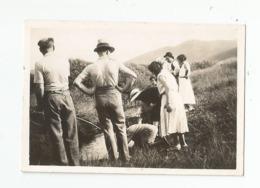 Photographie Peche Aux écrevisses 1932 En Savoie Photo 6x8,7 Cm Env - Places