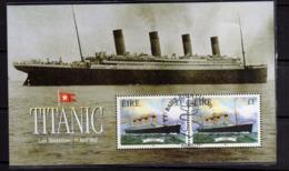 EIRE IRELAND IRLANDA 1999 MARITIME HERITAGE TITANIC SHIP BLOCCO FOGLIETTO BLOCK SOUVENIR SHEET MNH - Blocchi & Foglietti