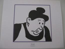 """Planche TINTIN """"L'Oreille Cassée"""" Concierge Ed Hergé-Moulinsart 2011 - Posters"""