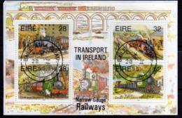 EIRE IRELAND IRLANDA 1995 NARROW GAUGE TRANSPORT RAILWAYS SINGAPORE 95 BLOCCO FOGLIETTO BLOCK SOUVENIR SHEET MNH - Blocchi & Foglietti