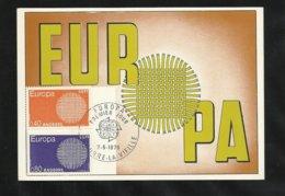 Andorre Carte Maximum Premier Jour Le 2 Mai 1970 Europa 1970 Les N°202 Et 203 TB Soldé ! ! ! - Europa-CEPT