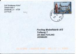 Latvia  Cover Sent To Denmark Smiltene 20-11-2002 Single Franked - Latvia