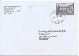 Latvia  Cover Sent To Denmark Smiltene 4-11-2002 Single Franked - Latvia