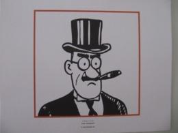 """Planche TINTIN """"L'Oreille Cassée"""" R. W. Chicklet Ed Hergé-Moulinsart 2011 - Posters"""
