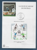 Thème Football - Coupe Du Monde Espagne 1982 - Monaco Document - Fußball-Weltmeisterschaft