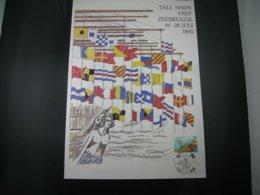 """BELG.1985 2178 FDC FILATELIC CARD : """"TALL SHIPS VISIT ZEEBRUGGE 1985 """" - Bateaux"""