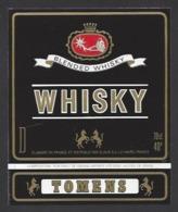 Etiquette De  Wisky  -  Tomens  -  Slaur Le Havre (76) - Whisky