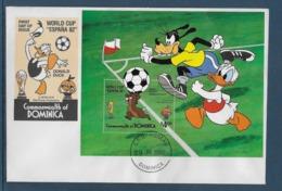 Thème Football - Coupe Du Monde Espagne 1982 - Dominique Enveloppe - Coppa Del Mondo