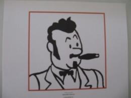 """Planche TINTIN """"L'Oreille Cassée"""" Don José Trujillo Ed Hergé-Moulinsart 2011 - Posters"""