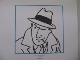 """Planche TINTIN """"Le Trésor De Rackham Le Rouge"""" Un Journaliste La Presse Ed Hergé-Moulinsart 2011 - Posters"""