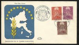 Luxembourg  Lettre Premier Jour Le 16 Septembre 1957   Europa 1957  Les  PAX Europa N° 531 ; 532 Et 533    TB Soldé ! ! - 1957