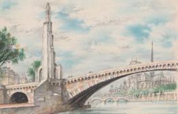 Barré & Dayez. Signé DESMARAIS. PARIS (75004) Le Pont De La Tournelle (Statue De Ste Geneviève) Et Notre-Dame. N° 2334 A - Illustrators & Photographers