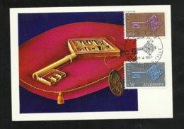 Andorre Carte Maximum Premier Jour Le 27 Avril 1968 Europa 1968 Les N°188 Et 189  TB  Soldé ! ! ! - Europa-CEPT