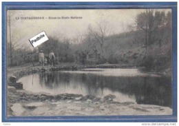 Carte Postale 85. La Chataigneraie  Ecluse Du Moulin Mailleraie Très Beau Plan Animé - La Chataigneraie
