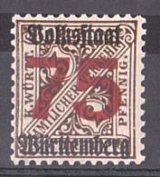 Wurtemberg - 1919 - N° 113 - Neuf ** - Surcharge Nouvelle Valeur - Rép. De Weimar - Wurtemberg