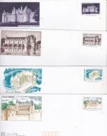 PRÊTS A POSTER NEUFS (déstockage) 5 Enveloppes Avec Carte Châteaux De La Loire - Autres