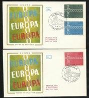 Monaco 2 Lettres Premier Jour Le 06 Septembre 1971   Europa 1971  Les N° 863; 864 Et 865     TB Soldé ! ! ! - Europa-CEPT