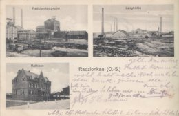 CPA - RADZIONKAU (RADZIONKÓW) - POLOGNE - MINES - NDUSTRIE - BELLE CARTE 3 VUES - Polen