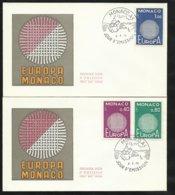Monaco 2 Lettres Premier Jour Le 04 Mai 1970  Europa 1970  Les N° 819 ; 820 Et 821   TB Soldé ! ! ! - Europa-CEPT