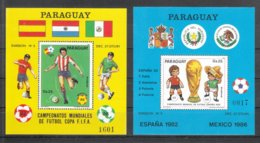 Paraguay 1984**, Block Fußball-WM 82+86, Kaktus Opuntia / Paraguay 1984, MNH, Soccer World Cup 82+86, Cactus Opuntia - Sukkulenten