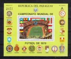 Paraguay 1979**, Block Fußball-WM 1978, Kaktus Opuntia / Paraguay 1979, MNH, Soccer World Cup 1978, Cactus Opuntia - Sukkulenten