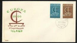Lettre Premier Jour Islande  Cachet Le 26/09/1966 Les N° 359 Et 360  TB Soldé ! ! ! - Europa-CEPT