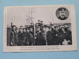 Een Groep Cadetten Van Het SCHOOLSCHIP Vergaan In April 1906 NAVIRE ECOLE Cdt. Fourcault ( Zie/voir Foto ) Th. Pauwels ! - Voiliers