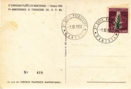 Cartolina Filatelica Di Mantova Con L. 5 Tabacco - 1946-.. République