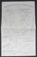 Chelsea F.C. Football Club Pre-Printed Autograph   FOOTBALL CALCIO Authograph SIGNATURE - Authographs