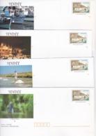 PRÊTS A POSTER NEUFS (déstockage) 5 Enveloppes Avec Carte VENDEE Visuel Timbre  Paysage Vendéen - Autres