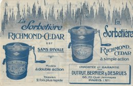 Prospectus Double Face:la Sorbetiere Richmond-cedar - Publicités