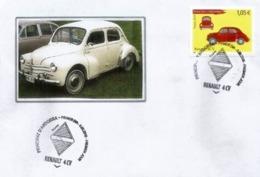 ANDORRA. Renault 4CV, Année 1947. émission Année 2019.  Oblitération Illustrée Losange Renault.  FDC - Französisch Andorra