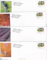 PRÊTS A POSTER NEUFS (déstockage) 5 Enveloppes Avec Carte RHONE ALPES Visuel Timbre Tableau De TANGUELY - Autres