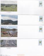 PRÊTS A POSTER NEUFS (déstockage) 5 Enveloppes Avec Carte FRANCHE COMTE Visuel Timbre Franche Comté - Autres
