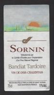 Etiquette De Vin De Pays Charentais - Parc Naturel Régional De Bandiat Tardoire (24) - Other