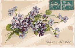 L100E251 - Bonne Année - Bouquet De Violettes - Série 585 - New Year