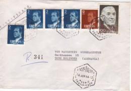 ESPAGNE : 1986 - Lettre Recommandée, Par Avion, Pour L'Allemagne - Jeunes Agriculteurs - 1981-90 Covers