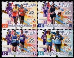 Jordan - 2019 - 25th Anniversary Of Dead Sea Ultra Marathon - Mint Stamp Set - Jordan