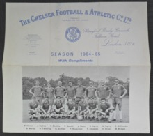 Chelsea F.C. Season 1964-65 Football Club Printed Autograph   FOOTBALL CALCIO Authograph SIGNATURE - Authographs