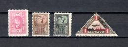 Lituania    1921-22   .-   Y&T  Nº   11-16-17-18    Aéreos - Lituania
