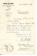 Procuration Pour NGUYEN Van THO à Retirer Son Courrier à MELISEY 70 / Ministère Des Colonies Travailleurs Indochinois - 1900 – 1949
