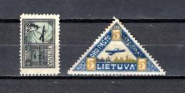 Lituania    1921-22   .-   Y&T  Nº   17 - 20    Aéreos - Lituania